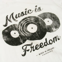 Music is Freedom t-shirt - Vintage White