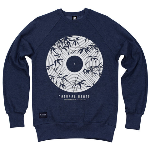 Natural Beats Crew Sweat - Navy heather