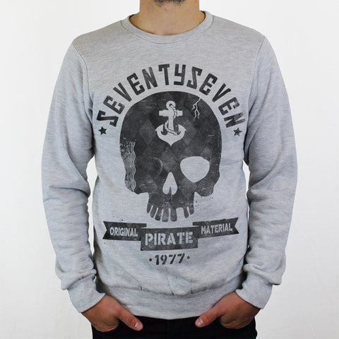 Pirate Radio Crew Sweat - Grey Heather