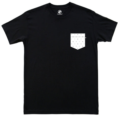 Polka Dot Pocket t-shirt - Black
