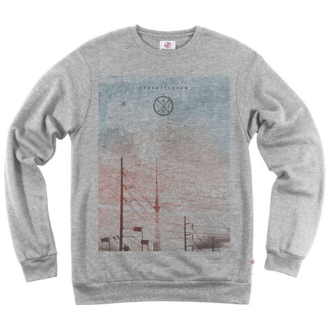 Powerlines Crew Sweat - Grey Heather