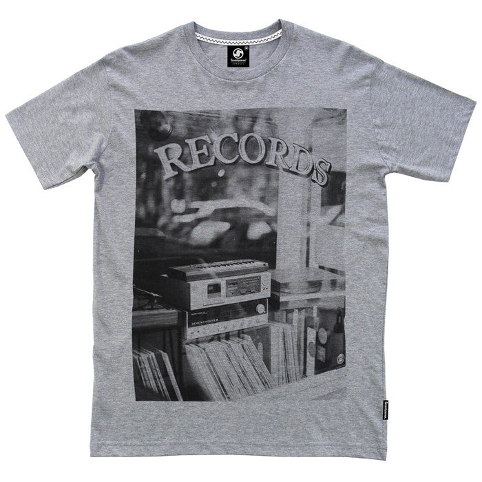 Record Store t-shirt - Grey Heather