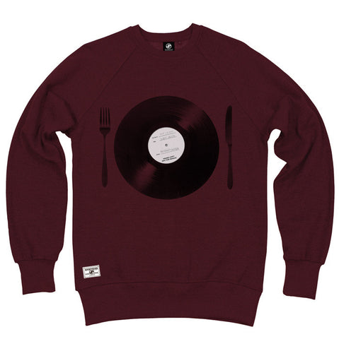 Tasty Beats Crew Sweat - Burgundy