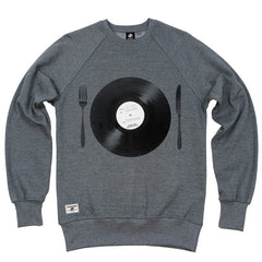 Tasty Beats Crew Sweat - Grey Heather