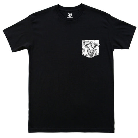 Tropical Pocket t-shirt - Black