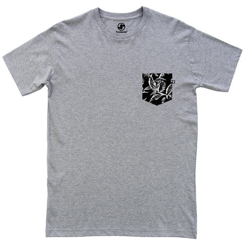 Tropical Pocket t-shirt - Grey Heather