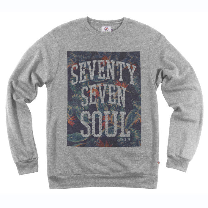 Tropical Soul Crew Sweat - Grey Heather