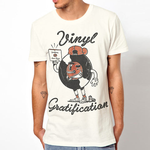 Vinyl Gratification t-shirt - Vintage White