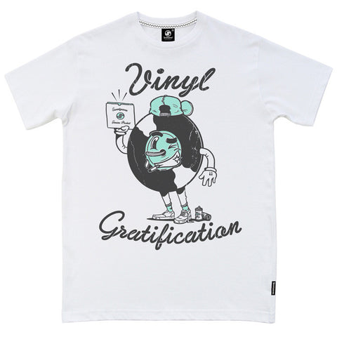 Vinyl Gratification t-shirt - White