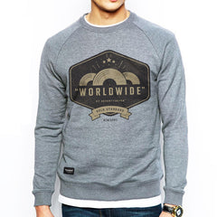 Worldwide Crew Sweat - Grey Heather