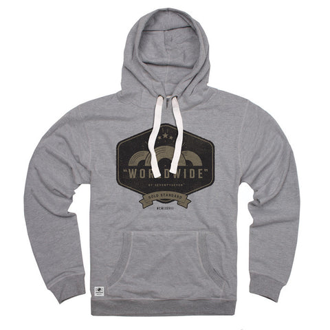 Worldwide Peached Hooded Sweat - Grey Heather