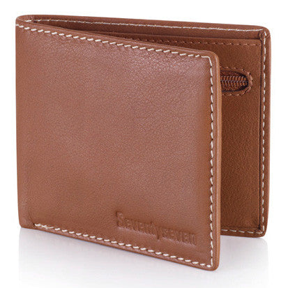 Zipper Wallet - Tan Leather