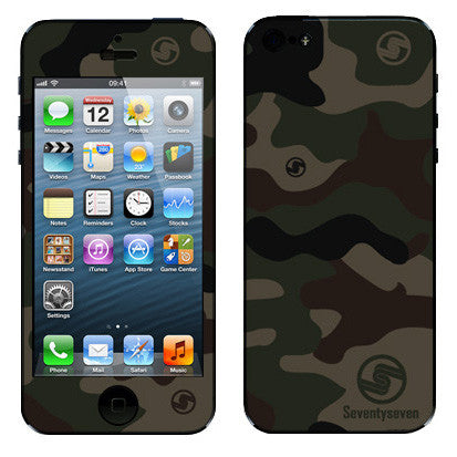 iPhone Skin (5 / 4S) - Classic Green Camo