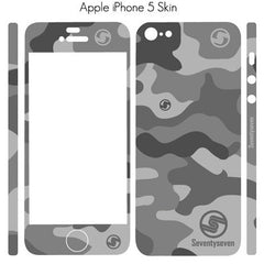 iPhone Skin (5/5S or 4/4S) - Arctic Grey Camo