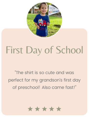 First day of school monogrammed boy shirt 5 star review shop on the corner scribblez creations