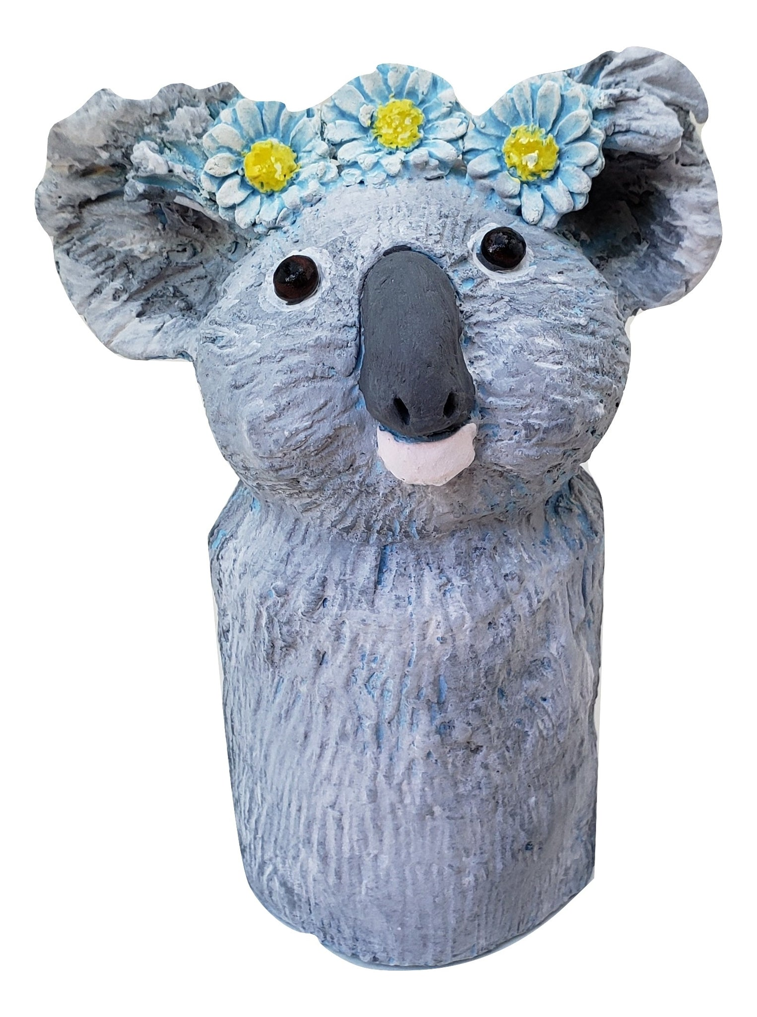 Koala Bear with Daisy Chain - Artworks by Karen Fincannon