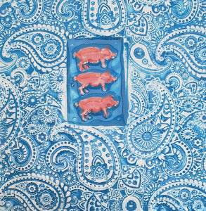 Three Little Pigs 4x4 Ceramic Tile - Artworks by Karen Fincannon