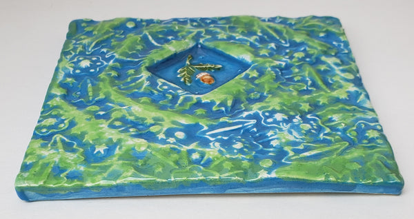 Acorn 4x4 Ceramic Tile - Artworks by Karen Fincannon