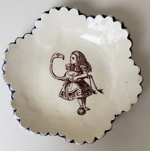 Tiny Plate with Alice in Wonderland - Artworks by Karen Fincannon