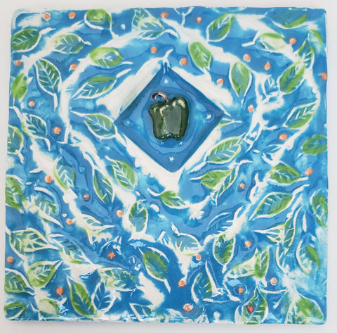 Apple 4x4 Ceramic Tile - Artworks by Karen Fincannon