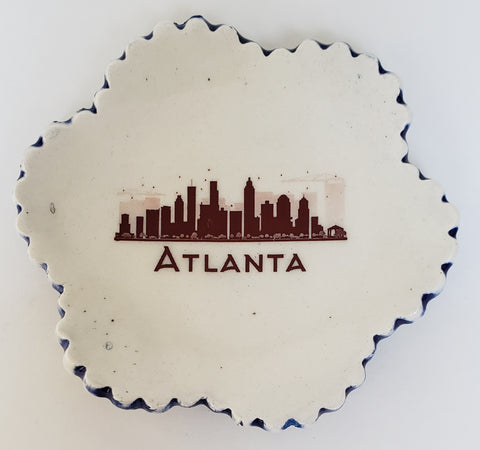 Tiny Plate with Atlanta skyline - Artworks by Karen Fincannon