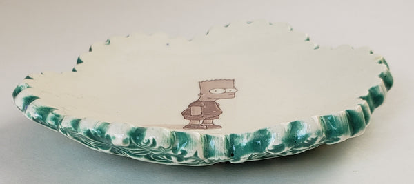 Tiny Plate with Bart Simpson - Artworks by Karen Fincannon