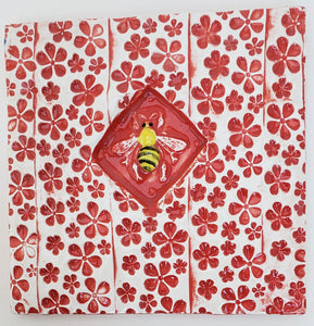 Bee 4x4 Ceramic Tile - Artworks by Karen Fincannon