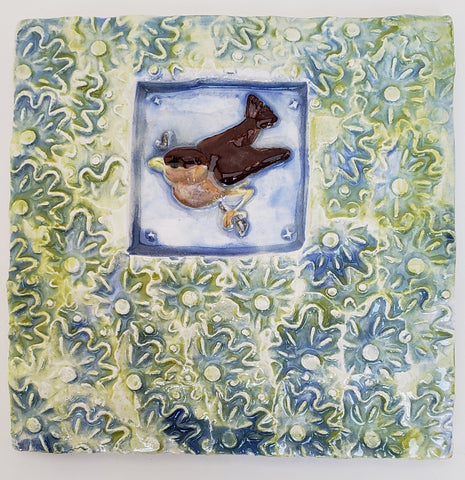 Bird 4x4 Ceramic Tile - Artworks by Karen Fincannon
