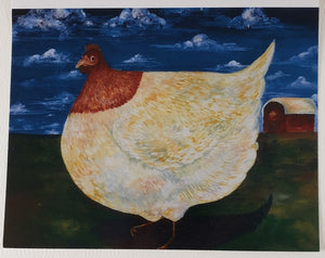 Big Chicken Greeting Card - Artworks by Karen Fincannon