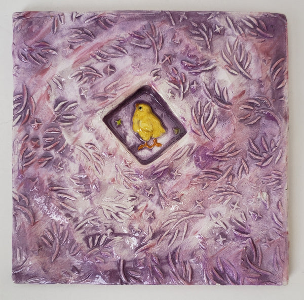 Chick 4x4 Ceramic Tile - Artworks by Karen Fincannon
