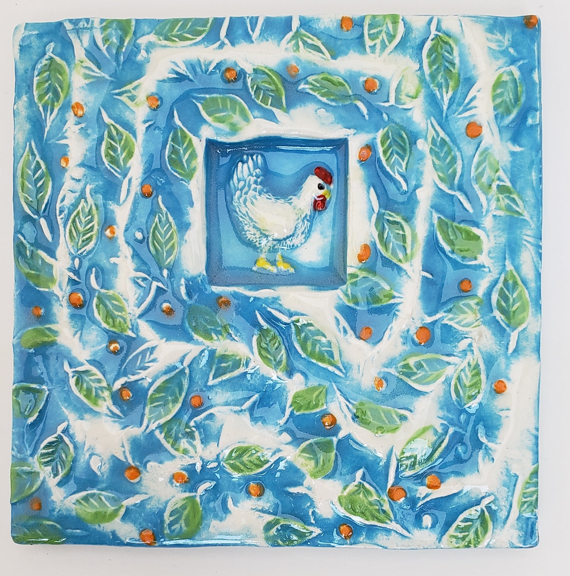 Funky Chicken 4x4 Ceramic Tile