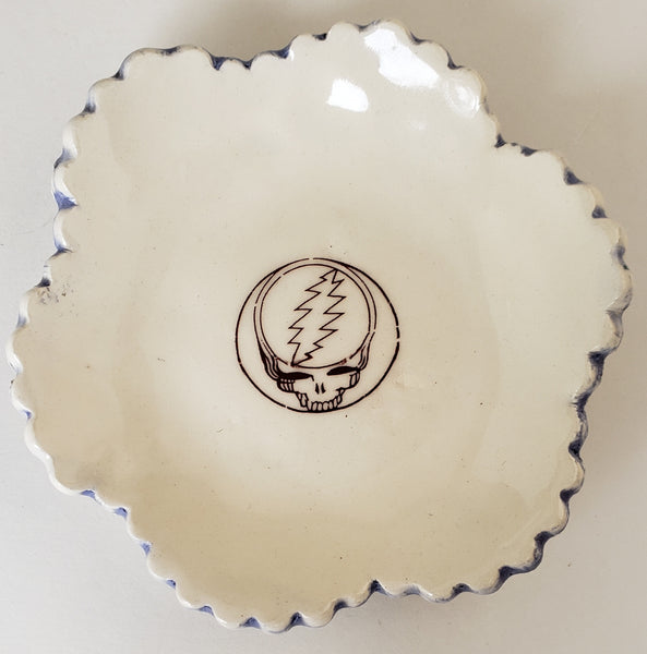 Tiny Plate with Steal Your Face from the Grateful Dead - Artworks by Karen Fincannon
