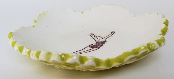 Tiny Plate with an Acrobat - Artworks by Karen Fincannon