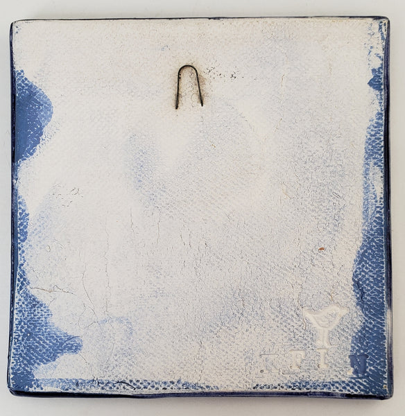 Dolphin 4x4 Ceramic Tile - Artworks by Karen Fincannon