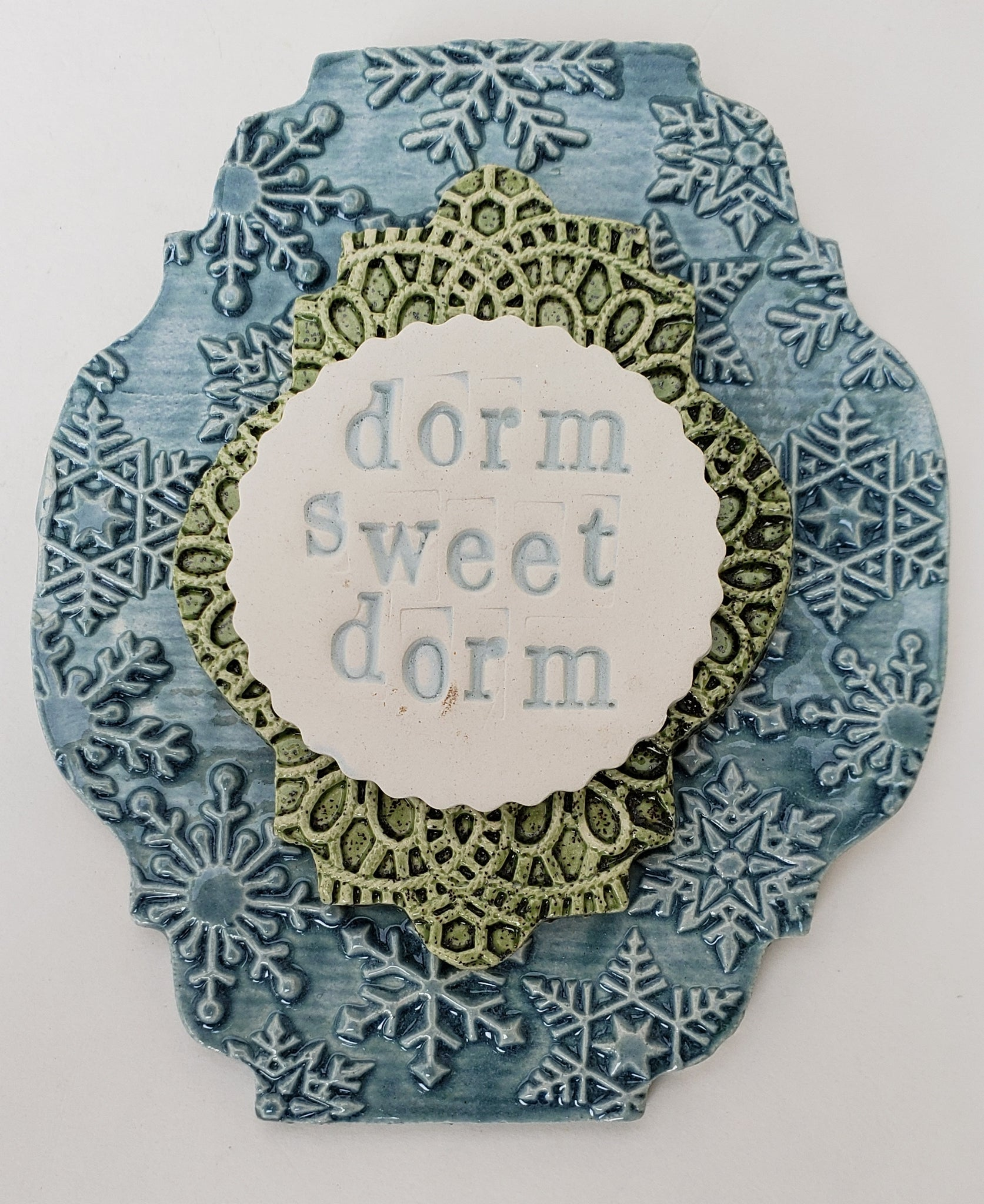 Dorm Sweet Dorm Word Plaque - Artworks by Karen Fincannon