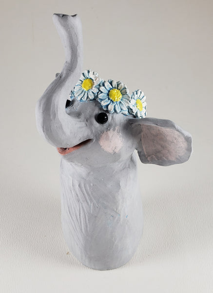 Don't Call Me Dumbo Wears a Daisy Headband - Artworks by Karen Fincannon