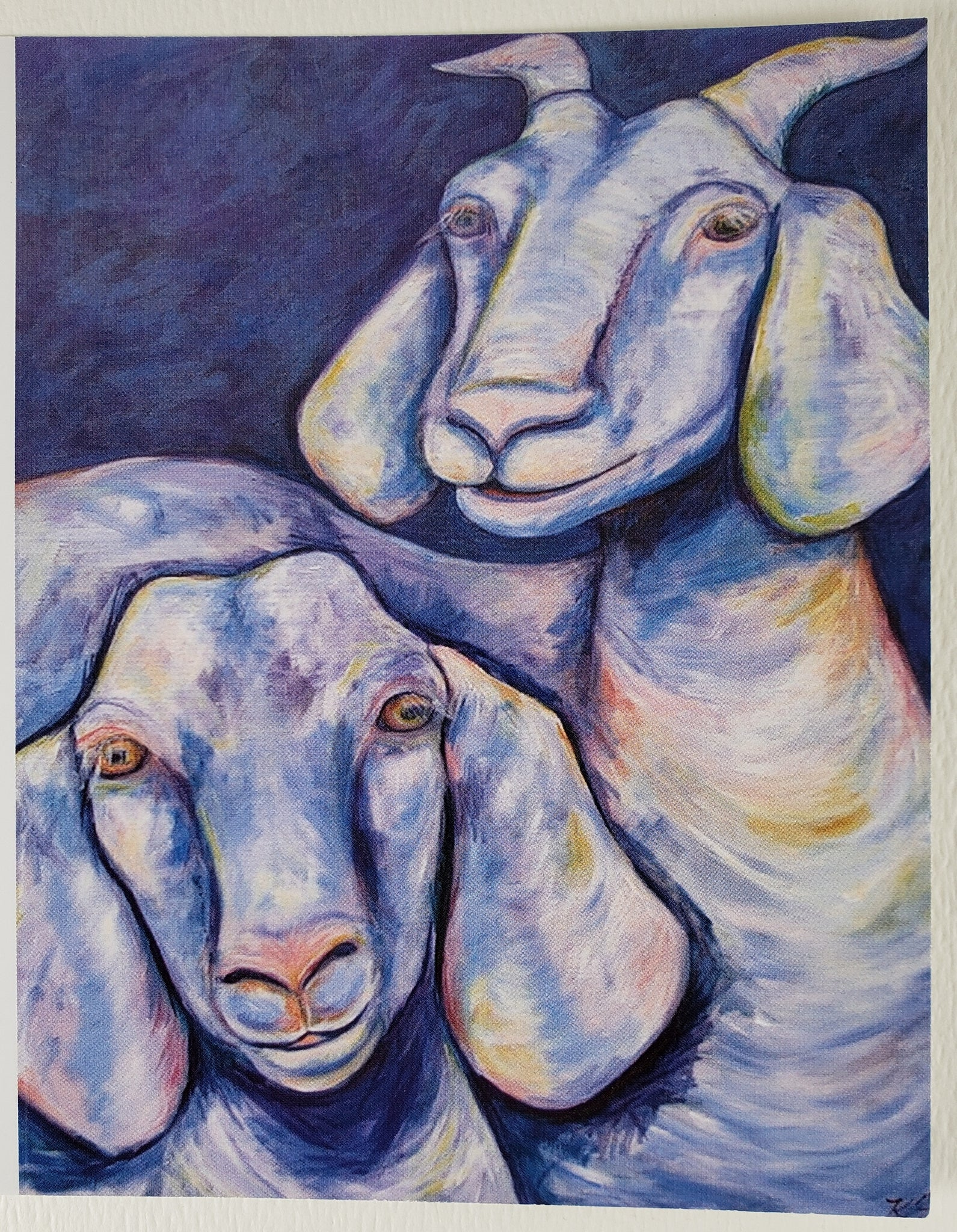 Two Goats Greeting Card