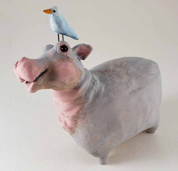 Happy the Hippo - Artworks by Karen Fincannon