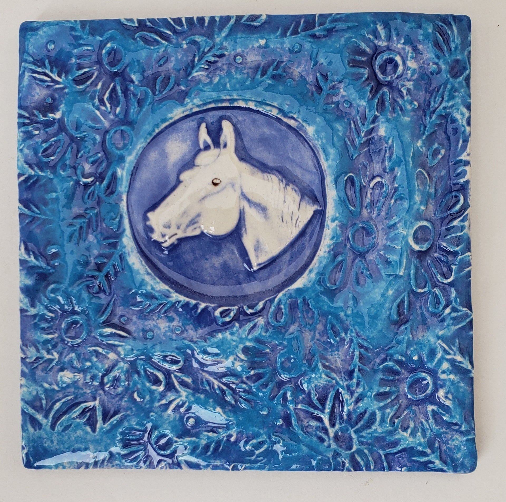Horse 4x4 Ceramic Tile - Artworks by Karen Fincannon