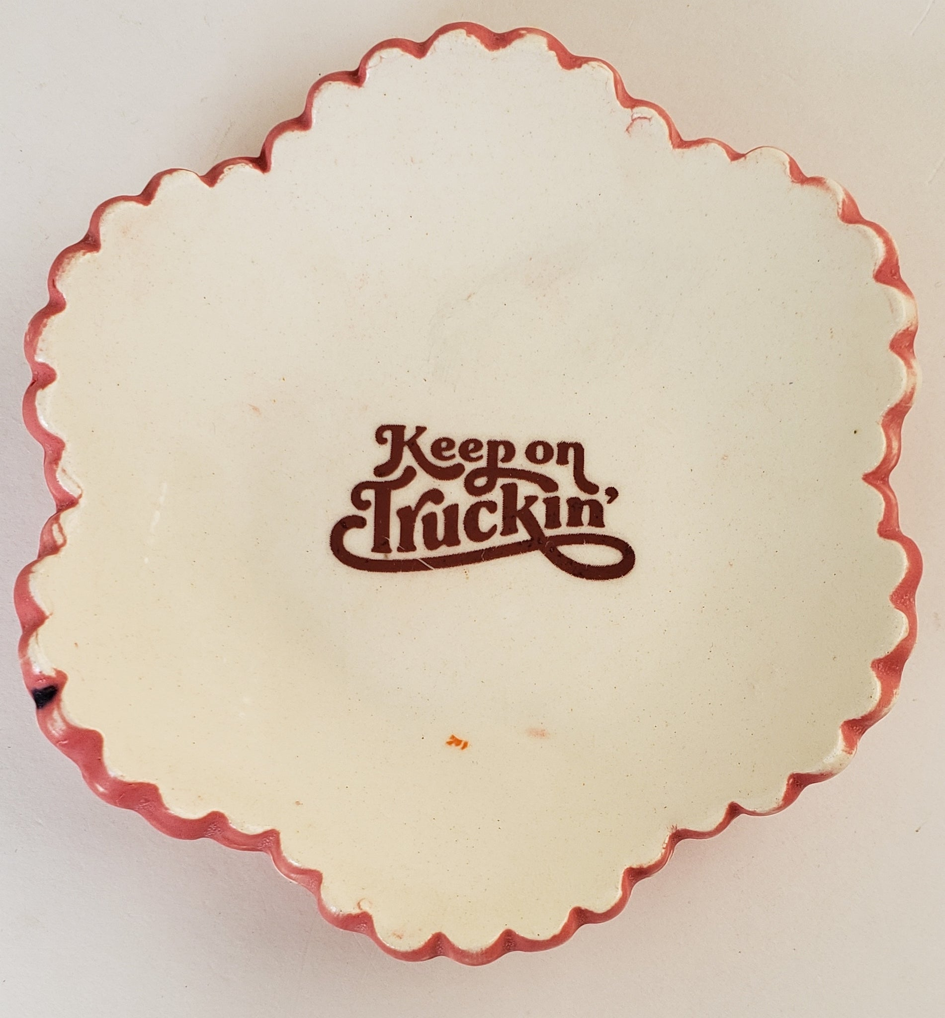 Tiny Plate with Keep on Truckin'
