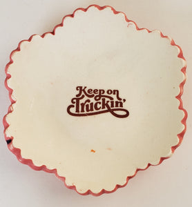 Tiny Plate with Keep on Truckin' - Artworks by Karen Fincannon
