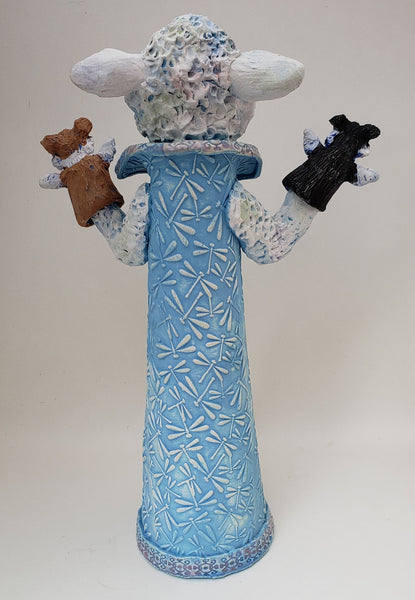 Lambinator Puppet Sculpture - Artworks by Karen Fincannon