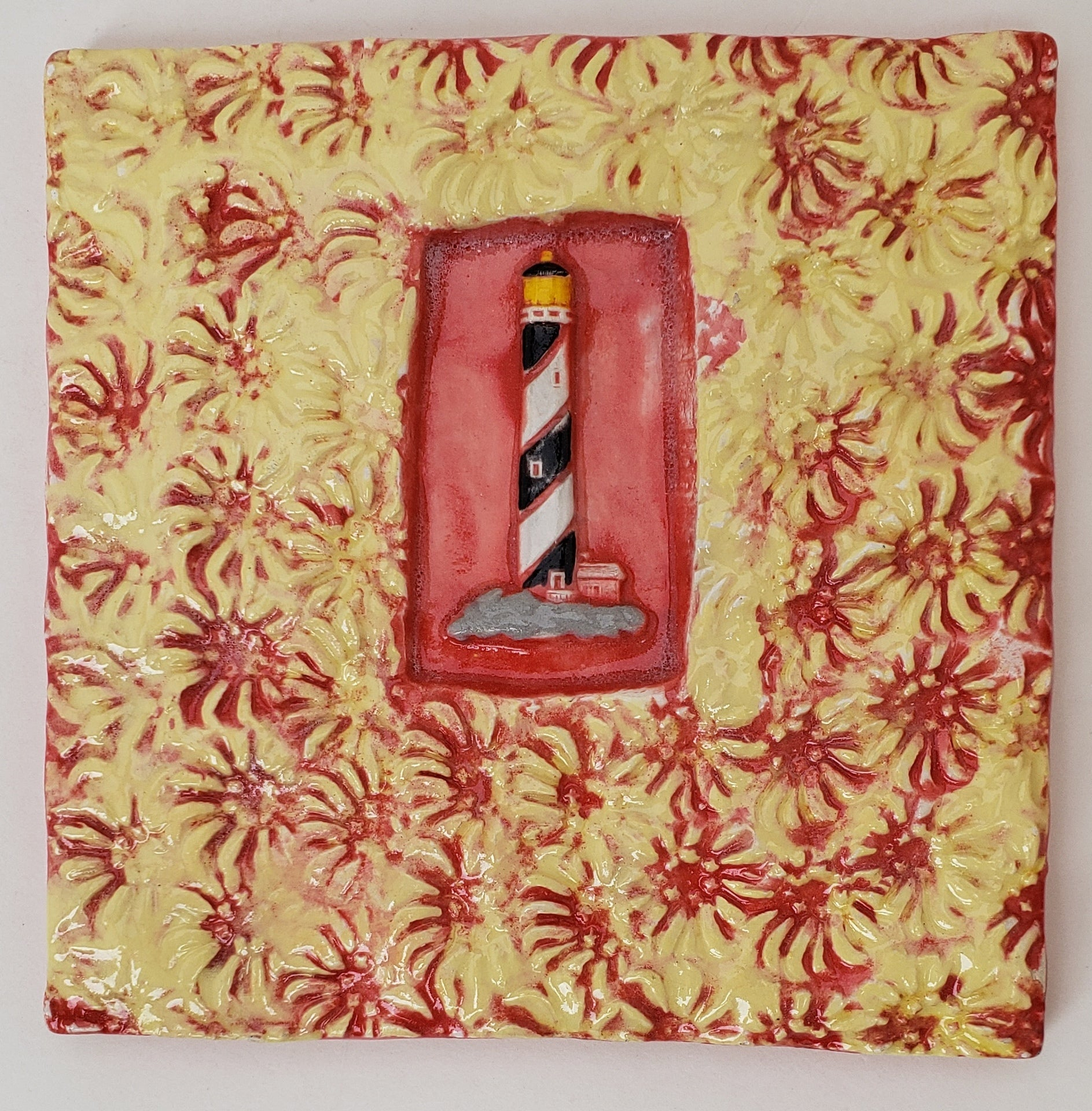 Lighthouse 4x4 Ceramic Tile - Artworks by Karen Fincannon