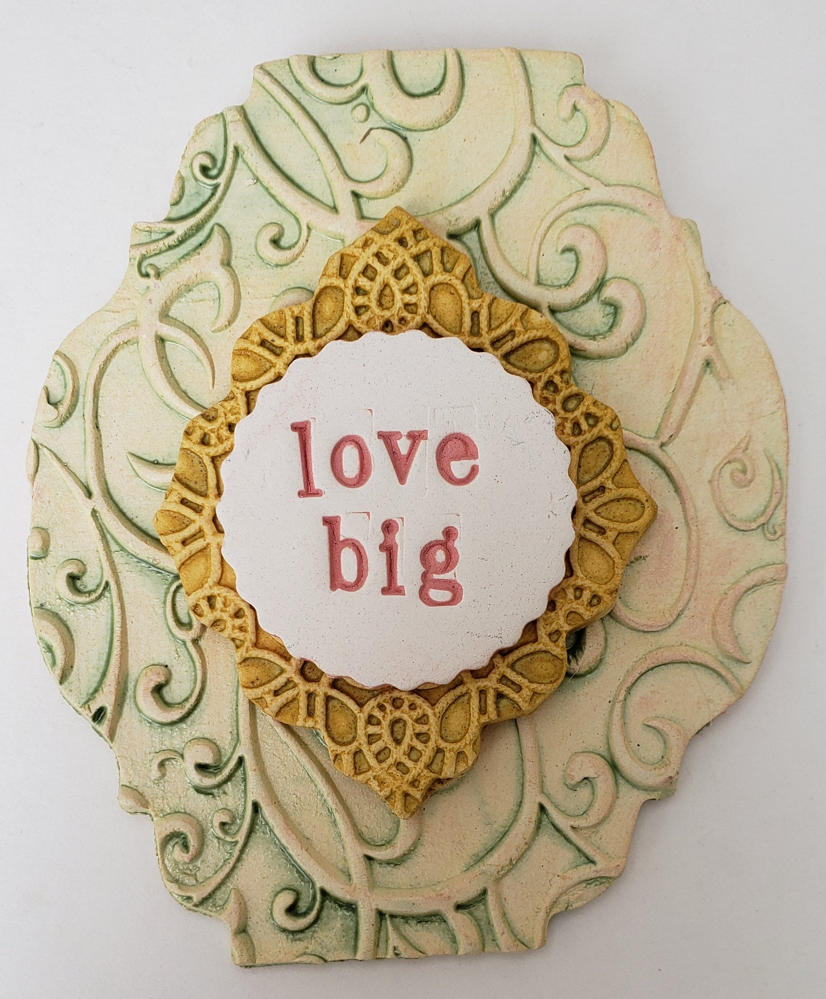 Love Big Word Plaque - Artworks by Karen Fincannon
