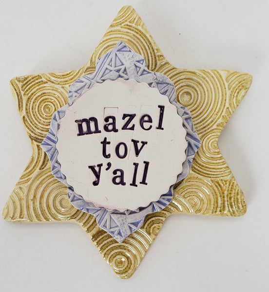 Mazel Tov Y'all Word Plaque