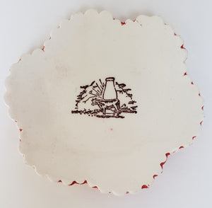 Tiny Plate with a Cow and Milk