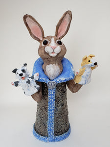 Dog Catcher Puppet Sculpture - Artworks by Karen Fincannon