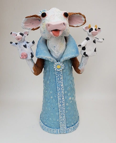 Udderly Ridiculous Puppet Sculpture - Artworks by Karen Fincannon
