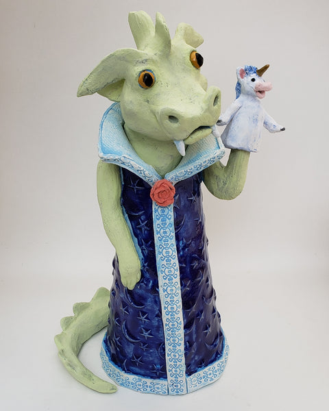 I'm Dragon Today Puppet Sculpture