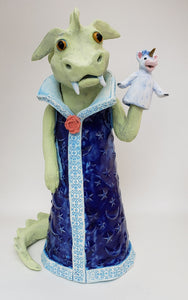 I'm Dragon Today Puppet Sculpture - Artworks by Karen Fincannon